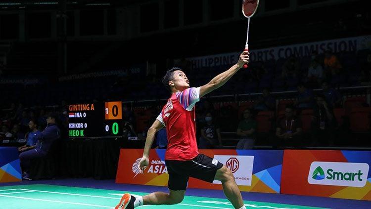 Pebulutangkis tunggal putra Indonesia Anthony Sinisuka Ginting mendadak jadi sorotan akun resmi Olimpiade, ada apa? Copyright: © Humas PBSI