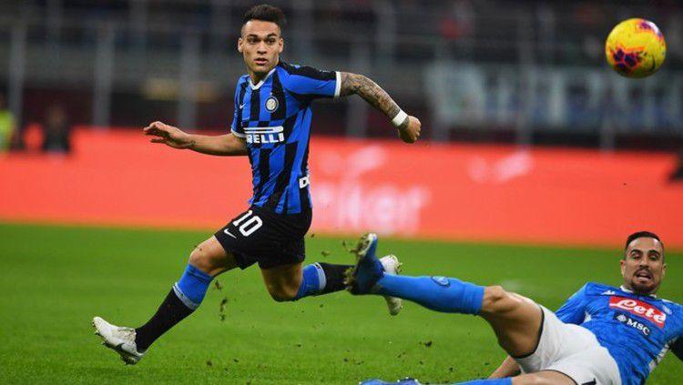 Inter Milan dan Lautaro Martinez di ambang memecahkan rekor milik Paul Pogba jika penyerang asal Argentina itu benar-benar bergabung dengan Barcelona. Copyright: © twitter.com/Inter_en