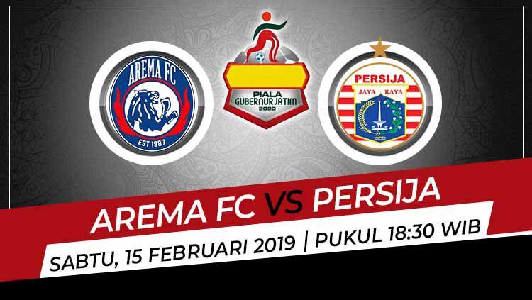 Prediksi pertandingan Piala Gubernur Jatim antara Arema vs Persija pada Sabtu (15/2/2020), di mana duel ini jadi pertarungan Macan dan Singa di Liga Indonesia. Copyright: © Yuhariyanto/INDOSPORT