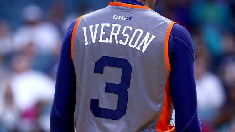 Allen Iverson, Legenda  basket NBA dari tim Philadelphia 76ers. Copyright: © Ronald Martinez/GettyImages