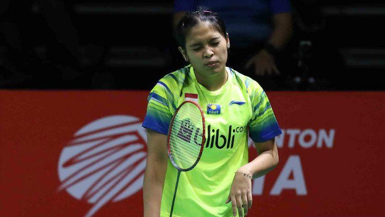 Pebulutangkis Gregoria Mariska mengakui kalau dirinya tidak menyangka harus mengalami kekalahan menyakitkan di Badminton Asia Team Championships 2020. Copyright: © Badminton Indonesia