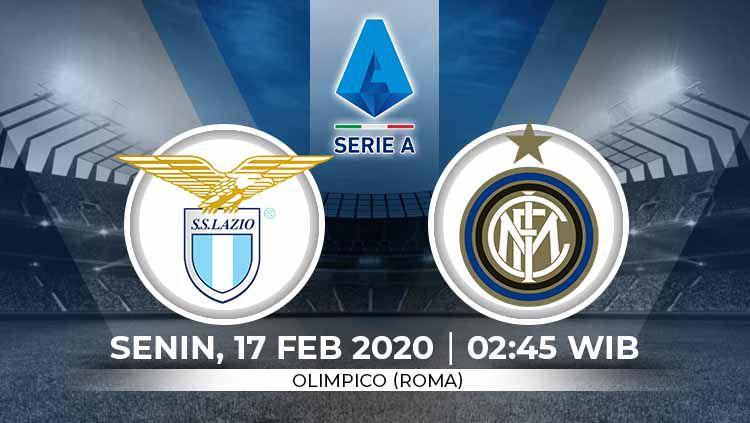 Laga seru akan tersaji antara Lazio vs Inter Milan dalam lanjutan Serie A Italia, Senin (17/2/20) dini hari WIB. Copyright: © Grafis:Yanto/Indosport.com