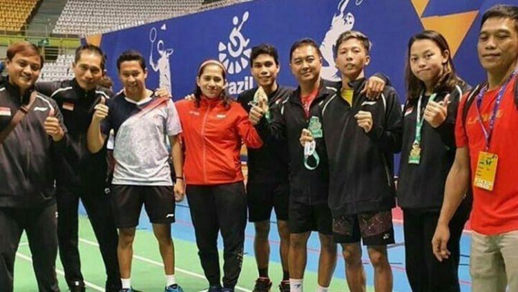 Sebuah prestasi membanggakan kembali diukir oleh tim para bulutangkis Indonesia di turnamen Brazil Para-Badminton International 2020. Copyright: © parabadminton_update