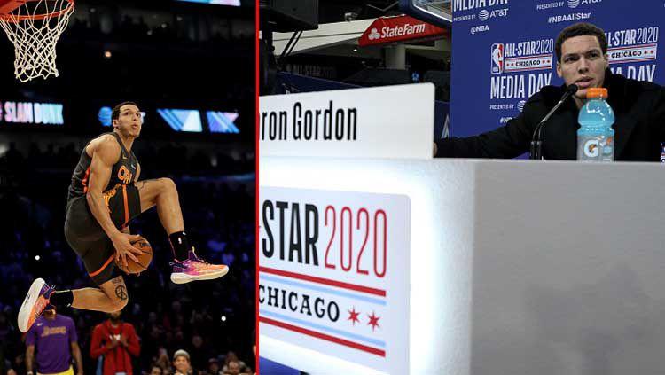 Bintang basket NBA dari tim Orlando Magic, Aaron Gordon. Copyright: © Jonathan Daniel/Dylan Buell/GettyImages