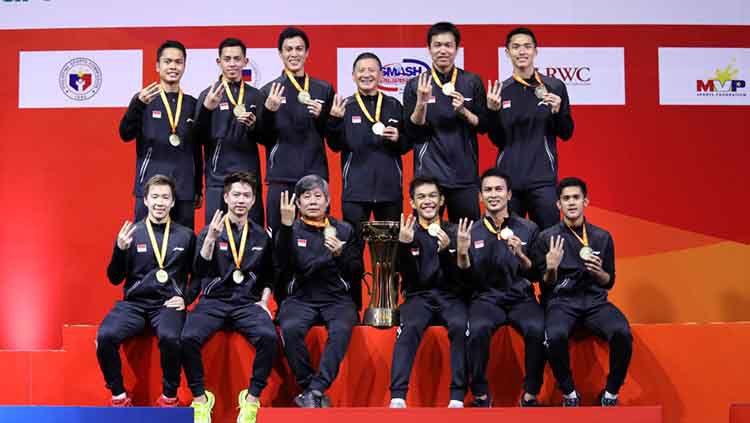 Media Malaysia menyoroti target tim putra Indonesia yang berniat membawa pulang Piala Thomas 2020 usai menenangkan gelar ketiga BATC 2020 beberapa waktu lalu. Copyright: © Humas PBSI