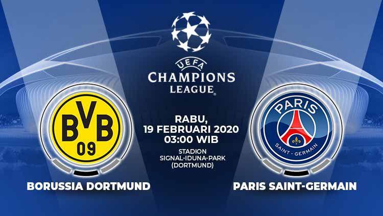 Pertandingan antara Borussia Dortmund vs Paris Saint-Germain (Liga Champions). Copyright: © Grafis:Yanto/Indosport.com