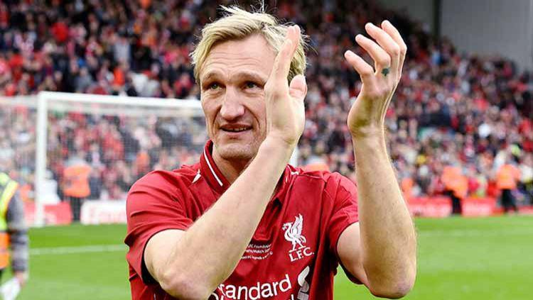 Sami Hyypia mantan Kapten Liverpool yang hanya mendapat satu merah sepanjang kariernya. Copyright: © LFC Foundation/Liverpool FC via Getty Images