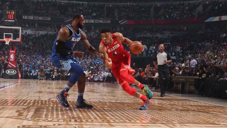 Tim Giannis vs Tim LeBron di NBA All-Star 2020 Copyright: © Twitte/NBA