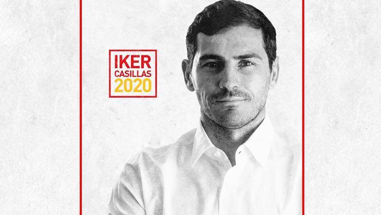 Mantan kiper Real Madrid, Iker Casillas, secara mengejutkan memutuskan mengundurkan diri dari bursa calon presiden Federasi Sepak Bola Spanyol (RFEF). Copyright: © Instagram Iker Casillas