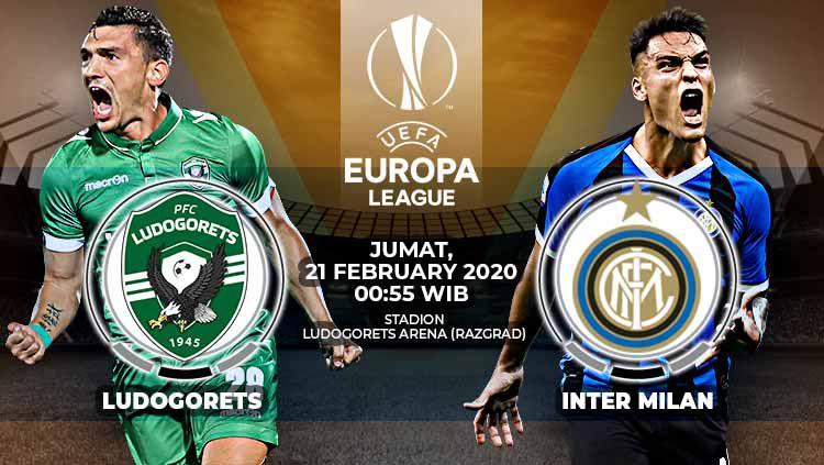 Link Live Streaming Pertandingan Liga Europa Ludogorets vs Inter Milan Copyright: © Grafis:Yanto/Indosport.com