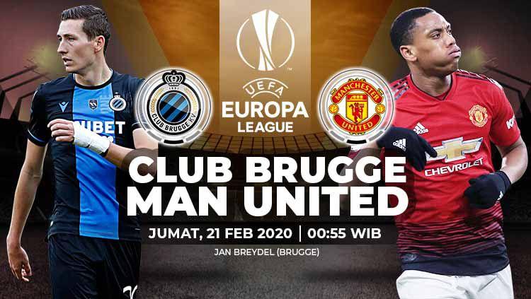 Link Live Streaming Liga Europa: Club Brugge vs Manchester United Copyright: © Grafis:Yanto/Indosport.com