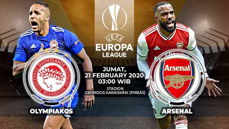 Link Live Streaming Pertandingan Liga Europa Olympiakos vs Arsenal Copyright: © Grafis:Yanto/Indosport.com