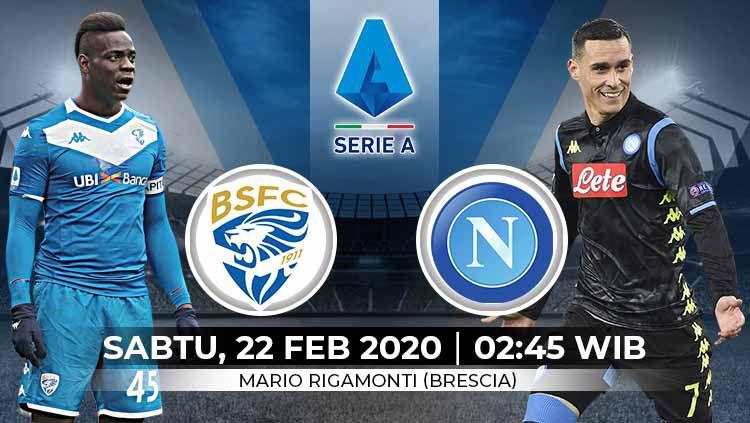 Pertandingan antara Brescia Calcio vs Napoli (Serie A Italia). Copyright: © Grafis:Yanto/Indosport.com