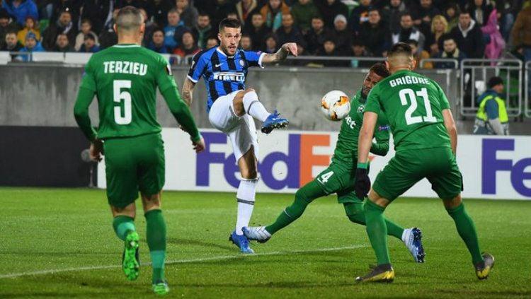 Pertandingan Liga Europa antara Ludogorets vs Inter Milan Copyright: © twitter.com/Inter_id
