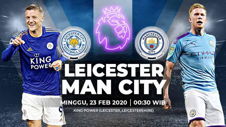 Link live streaming pertandingan Liga Inggris pekan ke-27 antara Leicester City vs Manchester City. Copyright: © Grafis:Yanto/Indosport.com