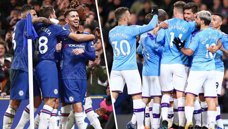 Jelang laga kontra Chelsea di babak semifinal Piala FA 2020/21, Manchester City dikabarkan bakal bermain tanpa striker asli. Copyright: © Grafis: Yanto/Indosport.com