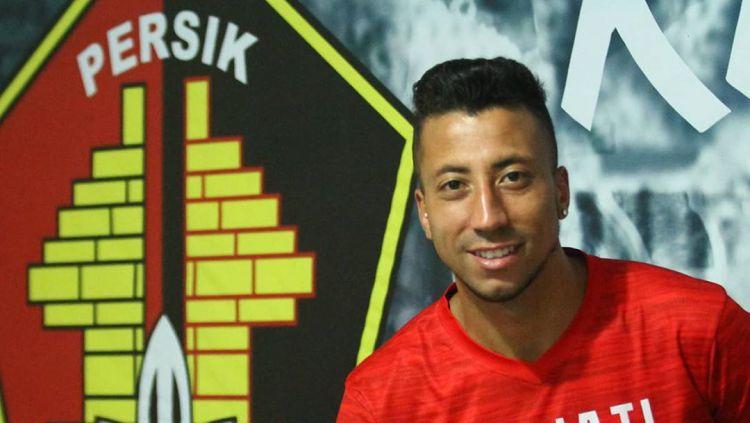 Jefferson Oliveira menjadi pemain asing terbaru dari Persik Kediri. Copyright: © instagram.com/persikfcofficial