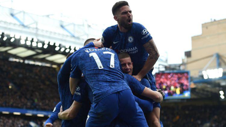Chelsea berhasil mengandaskan perlawanan Tottenham Hotspur dalam derbi London pada pekan ke-27 Liga Inggris Copyright: © Harriet Lander/Copa/Getty Images