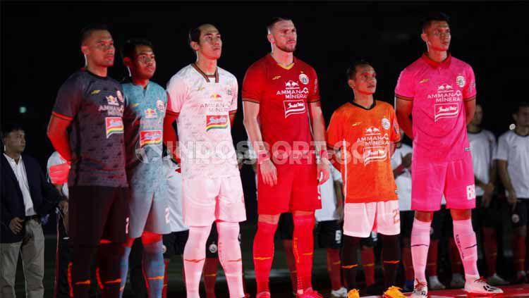 Acara launching tim dan jersey Persija Jakarta menjelang kick-off Liga 1 2020 di Stadion Utama GBK Senayan, Jakarta, Minggu (23/2/20). Copyright: © Herry Ibrahim/INDOSPORT