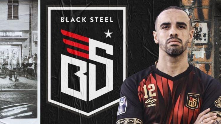 Jersey kandang dan tandang Blacksteel FC diajang Pro Futsal League (PFL) 2020 Indonesia. Copyright: © Media Officer Blacksteel FC