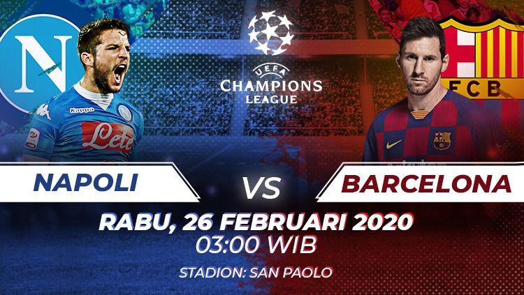 Pertandingan Liga Champions: Napoli vs Barcelona. Copyright: © Amanda yustri/Indosport.com