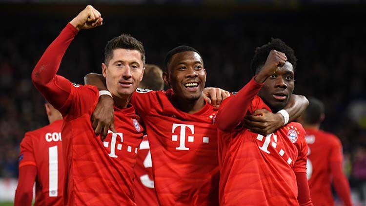 Bek Bayern Munchen, David Alaba (tengah), semakin dekat bergabung ke Real Madrid pada jendela transfer musim panas 2021 Copyright: © Mike Hewitt/GettyImages