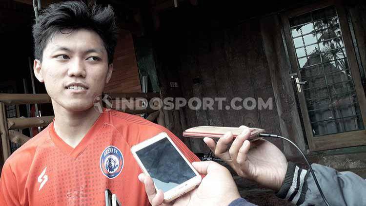 Status peminjaman dua pemain muda di klub Liga 1 Arema FC yaitu Mifathul Ikhsan dan Feby Eka Putra masih dalam hitungan fifty-fifty. Copyright: © Ian Setiawan/INDOSPORT