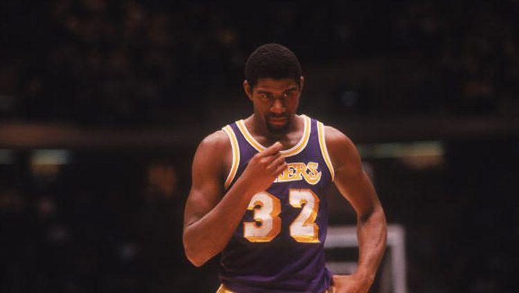 Earvin Magic Johnson, salah satu legenda NBA milik LA Lakers. Copyright: © Focus on Sport/GettyImages