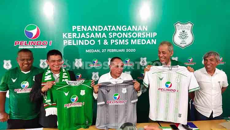 PSMS Medan akhirnya resmi mendapat sponsor untuk mengarungi ketatnya kompetisi Liga 2 musim 2020. Copyright: © Aldi Aulia Anwar/INDOSPORT