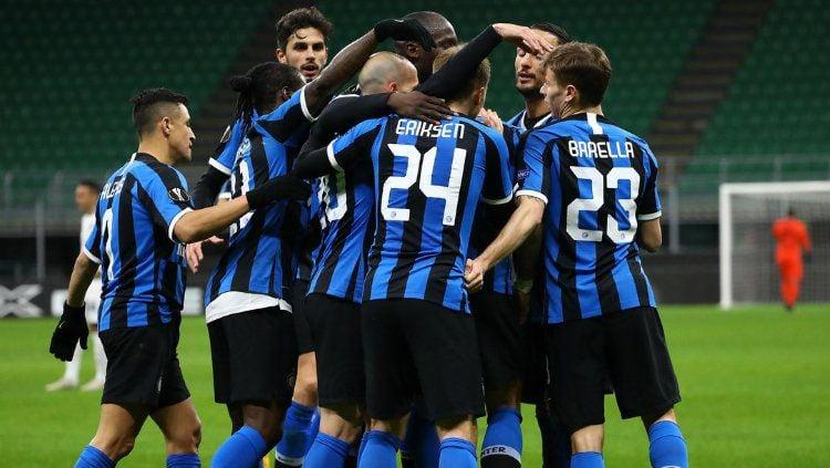 Selebrasi Pemain Inter Milan Saat Lukaku Mencetak gol kontra Ludogorets di Liga Europa Copyright: © twitter.com/Inter