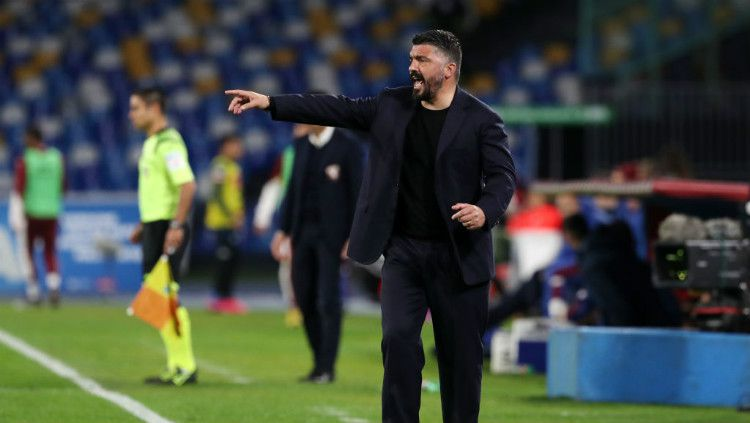 Pelatih Napoli, Gennaro Gattuso. Copyright: © Francesco Pecoraro/Getty Images