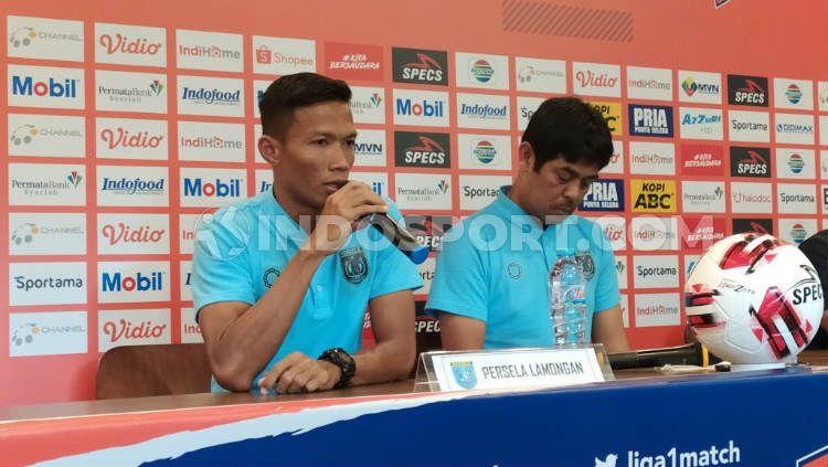 Kapten Persela Lamongan, Eky Taufik menyambut antusias soal kepastian Liga 1 pada 1 Oktober 2020. Copyright: © Arif Rahman/INDOSPORT