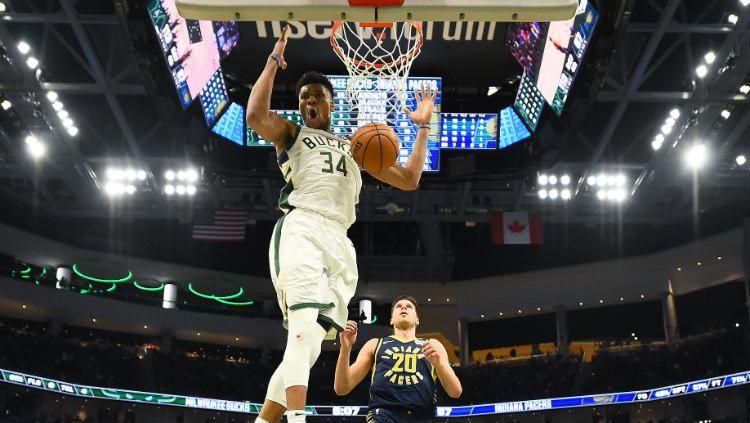 NBA Regular Season 2019-2020 melangsungkan beberapa pertandingan menarik hari ini. Dua di antaranya pelampiasan Milwaukee Bucks dan kemenangan Boston Celtics. Copyright: © Stacy Revere/Getty Images