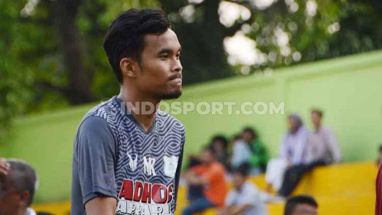 Pemain bertahan PSMS Medan, Muhammad Rifqi, akan segera melepas status lajangnya pada tahun 2020 ini. Copyright: © Aldi Aulia Anwar/INDOSPORT