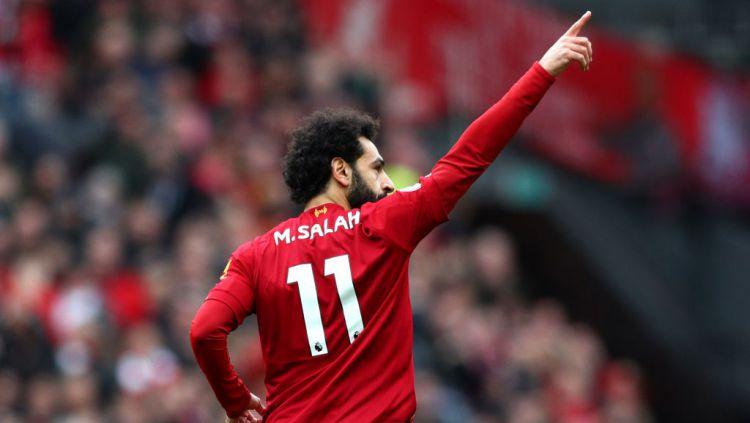 Megabintang Liverpool, Mohamed Salah, dikabarkan sudah berminat untuk jadi tandem Lionel Messi di Barcelona usai dirinya diincar raksasa Liga Spanyol itu. Copyright: © Jan Kruger/Getty Images