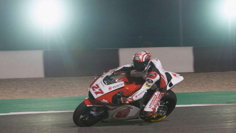 Andi Farid Izdihar alias Andi Gilang di sesi kualifikasi Moto2 Qatar Copyright: © Mirco Lazzari gp/Getty Images
