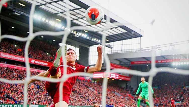 Gelandang Liverpool, James Milner,  menebar ancaman kepada Atletico Madrid jelang leg kedua 16 besar Liga Champions. Copyright: © Instagram