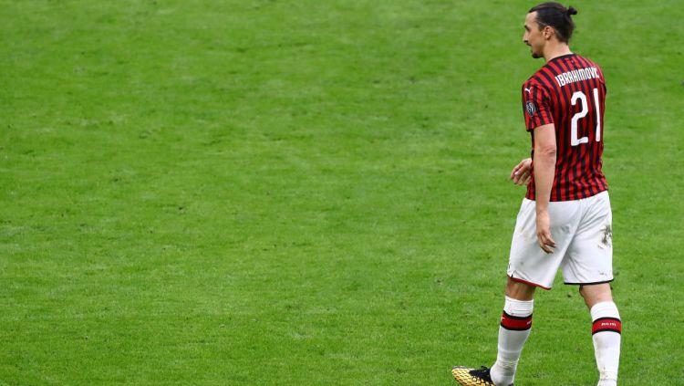 Berikut tujuh pemain yang pernah memperkuat dua klub sekota di Serie A, AC Milan dan Inter Milan, termasuk Zlatan Ibrahimovic. Copyright: © Marco Luzzani/Getty Images