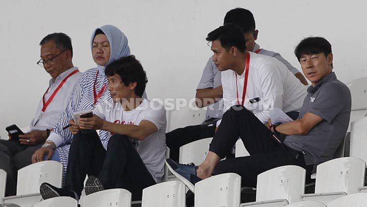 Pelatih Timnas Indonesia, Shin Tae-yong hadir di laga AFC 2020 grup H antara PSM Makassar vs Kaya FC di Stadion Madya Senayan, Selasa (10/03/20). Copyright: © Herry Ibrahim/INDOSPORT