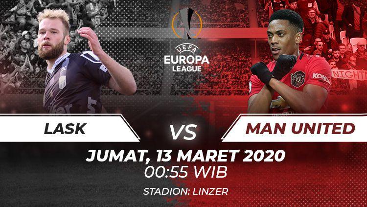 Link live streaming pertandingan leg pertama babak 16 besar Liga Europa antara LASK Linz vs Manchester United. Copyright: © Grafis:Frmn/Indosport.com