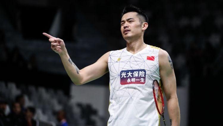 Sebuah kabar mengejutkan datang dari legenda bulutangkis dunia, Lin Dan yang telah mengumumkan pengunduran dirinya dari Timnas Bulutangkis China. Copyright: © Shi Tang/Getty Images