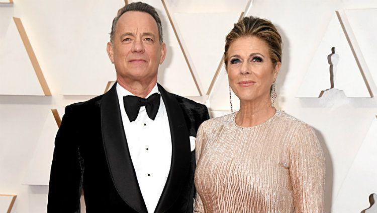 Tom Hanks dan istri, Rita, positif terjangkit virus corona. Copyright: © Jeff Kravitz/FilmMagic