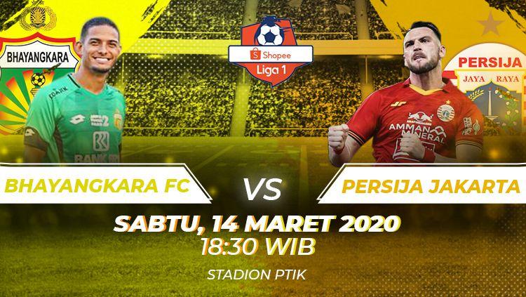 Berikut prediksi pertandingan Bhayangkara FC vs Persija Jakarta pada pekan ketiga Liga 1 2020, Sabtu (14/03/20) WIB. Copyright: © Amanda Dwi Ayustri/INDOSPORT