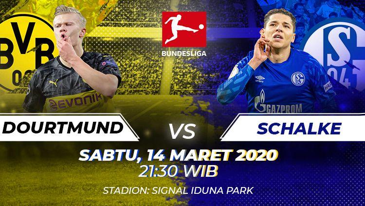 Berikut prediksi pertandingan antara Borussia Dortmund vs Schalke dalam lanjutan Bundesliga Jerman pekan ke-26, Sabtu (14/03/20) malam WIB. Copyright: © Amanda Dwi Ayustri/INDOSPORT