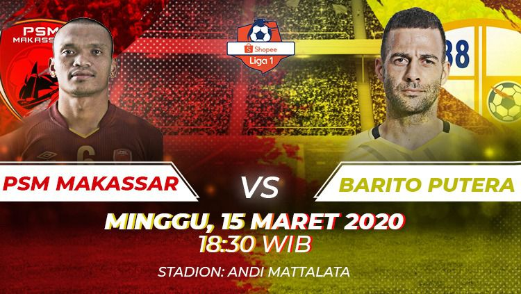 Laga PSM Makassar vs Barito Putera bisa disaksikan melalui layanan live streaming. Copyright: © INDOSPORT
