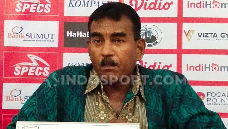 Sekretaris Umum PSMS Medan di Liga 2 2020, Julius Raja. Copyright: © Aldi Aulia Anwar/INDOSPORT