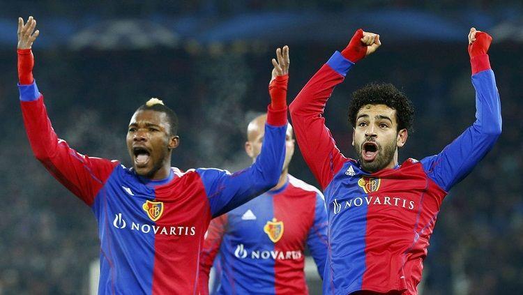 Sebelum jadi bintang di Liverpool, Mohamed Salah pernah membela FC Basel. Copyright: © Reuters
