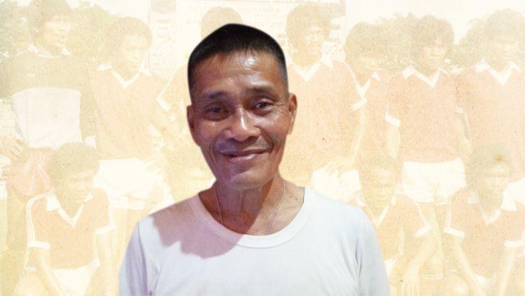 Nama Jamaluddin Hutahuruk sudah tak asing lagi bagi pecinta sepak bola Indonesia, lantaran ia adalah kiper legendaris PSMS Medan. Copyright: © dok. Jampi Hutahuruk