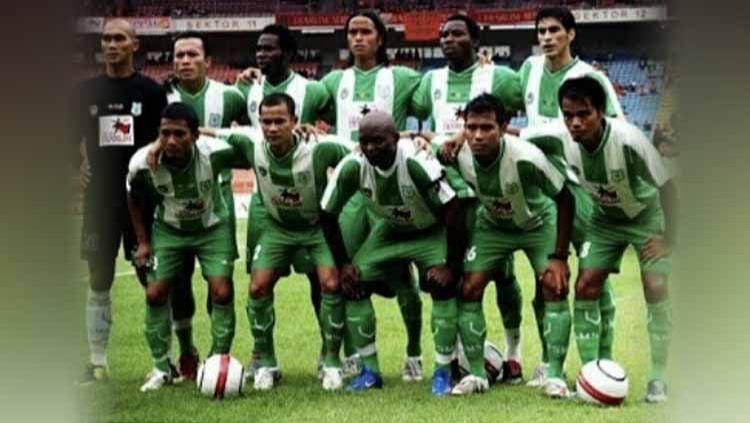 PSMS Medan adalah salah satu klub besar yang memiliki catatan sejarah ciamik dalam kancah persepak bolaan Indonesia, termasuk di Divisi Utama 2007. Copyright: © Dok. Legimin Raharjo