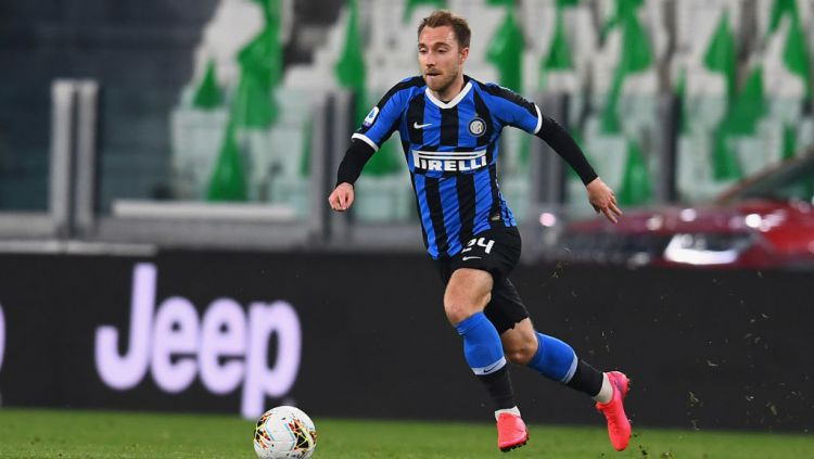 Raksasa Liga Inggris, Manchester United, kabarnya sudah mengambil keputusan untuk menyaingi Juventus demi pemain Inter Milan yang bernama Christian Eriksen. Copyright: © Claudio Villa - Inter/Inter via Getty Images
